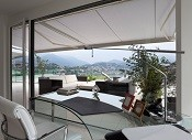 A new awning overlooking the mountains