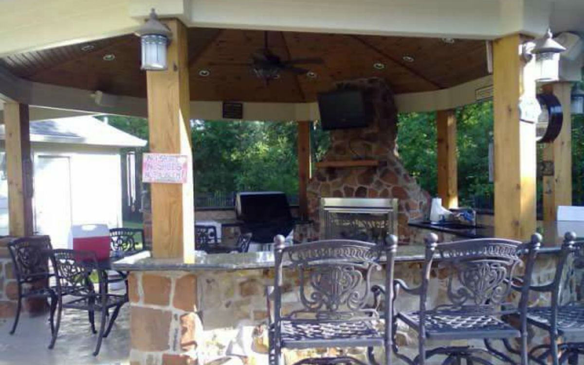 Outdoor kitchens Katy TX completed project