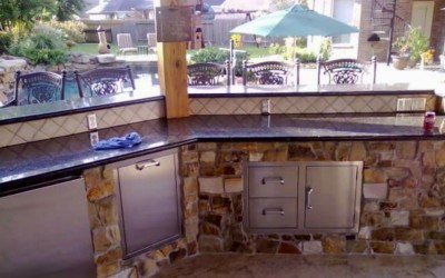 Built in outdoor bar in Houston TX