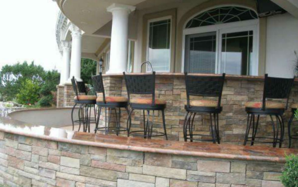 Outdoor kitchen contractor Katy TX completed project