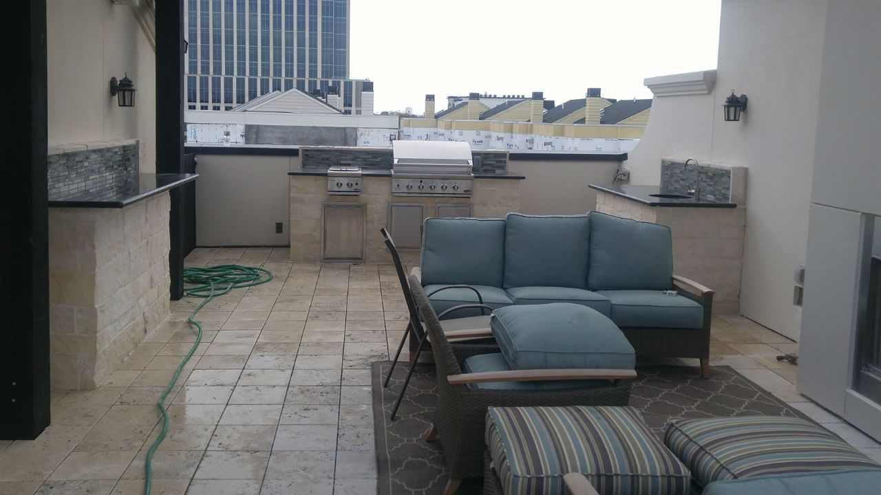 Outdoor kitchen contractor Houston TX project