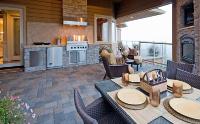 Outdoor kitchens Houston TX completed project