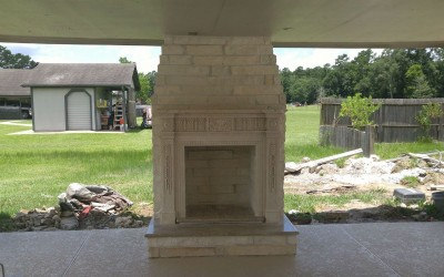 Fireplace as part of outdoor patio ideas